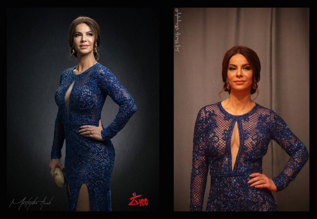 Feryel Graja habillée par Mehdi Kallel Haute Couture. (JCC 2017)