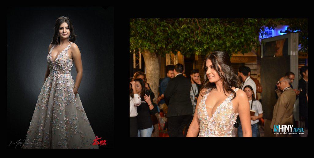 Racha Ben Maouia habillée par Maison Esthere Maryline Couture. (JCC 2017)