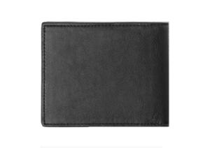 Shinymen - Portefeuille minimaliste noir gravé détail de chez ZARA